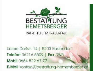 bestattung köstendorf hemetsberger
